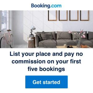 Join Booking.com for a complimentary listing.